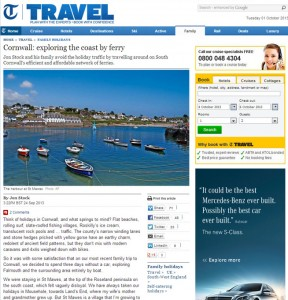 Telegraph Travel review Sep 2013