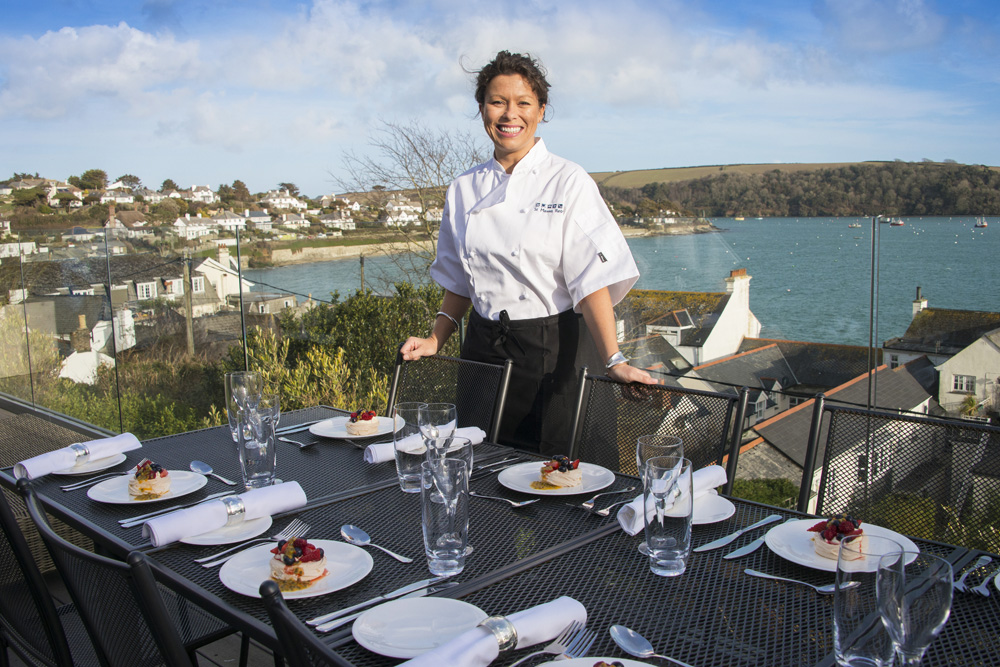Dining at St Mawes retreats
