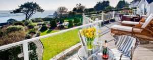 Moonraker Luxury Holiday House balcony view