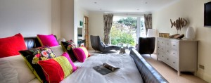 Stargazers luxury holiday home living area