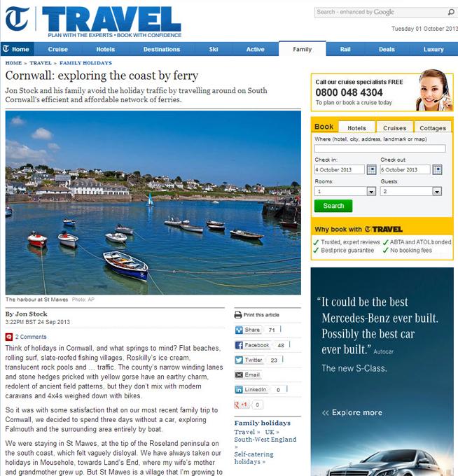Telegraph Travel review Sep 2013