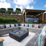 sea view firepit and hot tub