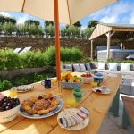 sea view garden table
